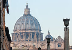 St. Peter Basilica dome Royalty Free Stock Photography