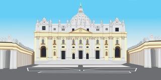 St. Peter Basiliek royalty-vrije illustratie