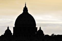 St Peter Basiliek in Vatikaan Royalty-vrije Stock Afbeeldingen