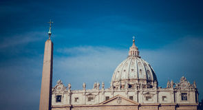 St Peter Basiliek, Vatikaan Stock Fotografie