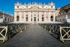 St Peter Basilika, Vatikan, Italien Stockbilder