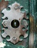 St Peter Basilika vom Schlüsselloch auf Aventino-Hügel, Rom Ita Lizenzfreies Stockfoto