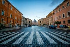 St Peter bazylika w Watykan, Rzym, Włochy obraz royalty free