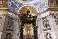 St Peter bazyliki sztuk rzeźba - Watykan Zdjęcia Stock