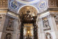 St Peter bazyliki sztuk rzeźba - Watykan Fotografia Stock