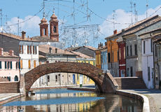 St. Peter Bridge. Comacchio. Emilia-Romagna. Italy. Stock Photo