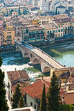 St Peter bridge, Verona, Italy. Royalty Free Stock Image