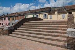 St.Peter Brug. Comacchio. Emilia-Romagna. Italië. Royalty-vrije Stock Afbeeldingen