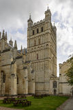 St. Peter Cathedral butresses and tower, Exeter Stock Photos