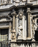 St. Peter cathedral church statues of saints. Catania, Sicily, Italy Stock Images