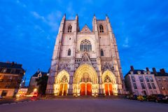 St. Peter Cathedral in Nantes royalty free stock photos
