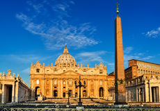 St Peter Cathedral nel Vaticano, Roma Fotografia Stock Libera da Diritti