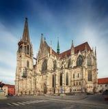 St Peter Cathedral, Regensburg, Tyskland Arkivfoto
