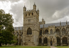 St. Peter Cathedral side, Exeter Royalty Free Stock Images