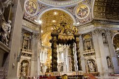 St. Peter Cathedral in Vatican Royalty Free Stock Image