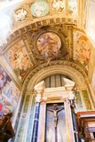 St. Peter cathedral - Vatican. Inside st. Peter cathedral - People and tourists stroll at Historical place old Rome Italy 20 may 2016 Stock Images