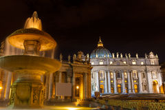 St Peter cathedral. Vatican Italy Rome state of religion Christianity landmark,  St Peter cathedral at twilight Royalty Free Stock Images