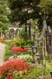 St Peter Cemetery Salzburg Arkivfoto