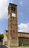 St. Peter church bell-tower, Agliate Stock Photography