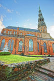 St Peter church and Christmas tree in the Old city of Riga in La Royalty Free Stock Photography