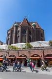 St Peter Church em Munich de Viktualienmarkt, Alemanha, 2015 foto de stock