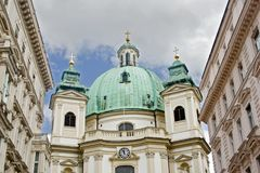 St Peter Church in Vienna. St Peter Church in the imperial city of Vienna Royalty Free Stock Image