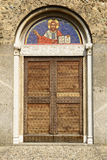 St. Peter church portal, Agliate Royalty Free Stock Photos
