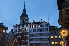 St. Peter Church in Zurich Royalty Free Stock Image