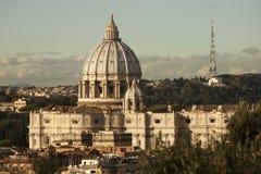 St Peter (Città del Vaticano, Roma - Italia) aereo Aftermoon Fotografia Stock