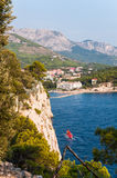 St Peter cliff in Makarska Royalty Free Stock Photos
