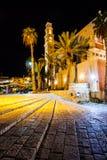 St. Peter de Kerk is een Franciscan Kerk in Jaffa, een deel van Tel Aviv, in Israël. Stock Foto's