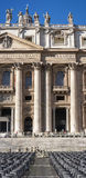 St Peter (de Stad van Vatikaan, Rome - Italië), verticale panoramasectie royalty-vrije stock afbeeldingen
