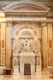 St. Peter dome in Rome. ROME - August 03: Architectural fragment of St. Peter's Cathedral on August 03, 2014 in Vatican (Rome), Italy Royalty Free Stock Images