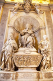 St. Peter dome in Rome. ROME - August 03: Architectural fragment of St. Peter's Cathedral on August 03, 2014 in Vatican (Rome), Italy Stock Photography