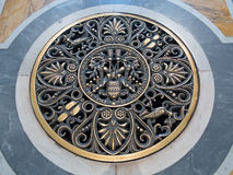 St. Peter dome in Rome. ROME - August 03: Architectural fragment of St. Peter's Cathedral on August 03, 2014 in Vatican (Rome), Italy Stock Photo