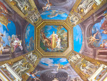 St. Peter dome in Rome. ROME - August 03: Architectural fragment of St. Peter's Cathedral on August 03, 2014 in Vatican (Rome), Italy Royalty Free Stock Photography
