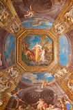 St. Peter dome in Rome. Rome - August 03: Architectural fragment of St. Peter's Cathedral on August 03, 2014 in Vatican (Rome), Italy Royalty Free Stock Photos