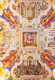 St. Peter dome in Rome. Rome - August 03: Architectural fragment of St. Peter's Cathedral on August 03, 2014 in Vatican (Rome), Italy Stock Images