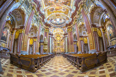 St Peter e igreja de Paul na abadia de Melk foto de stock royalty free