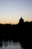 St Peter e Paul Dome Silhouette in Roma Eur Immagini Stock