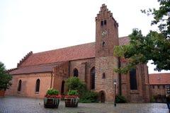 St Peter eller för St Petri kyrka, Ystad, Sverige Fotografering för Bildbyråer