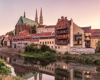St Peter en de Kerk van Paul ` s, Gorlitz, oostelijk Duitsland, Europa royalty-vrije stock afbeelding