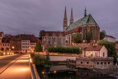 St Peter en de Kerk van Paul ` s, Gorlitz, oostelijk Duitsland, Europa stock afbeelding