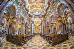 St Peter en Paul Church in Abdij Melk Royalty-vrije Stock Foto
