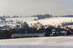 St Peter en Paul Church in Ceske Petrovice, Tsjechische Republiek Royalty-vrije Stock Foto's