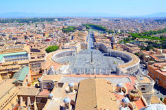 St Peter et x27 ; place de s, Piazza San Pietro à Vatican, Italie Photos libres de droits