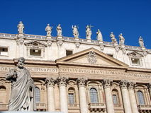 St Peter & the facade of the basilica Royalty Free Stock Photos