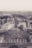 St Peter in het Vatikaan Ouderwetse foto stock foto's