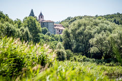 St Peter i den Lamosa kloster Provaglio Lombardy Italien arkivbilder