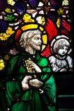 St Peter i målat glass Arkivbilder